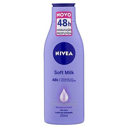 Loção Hidratante Nivea 200ml Soft Milk Pele Seca