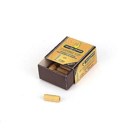 Piteira de Madeira Yellow Finger Small (Caixa com 10)