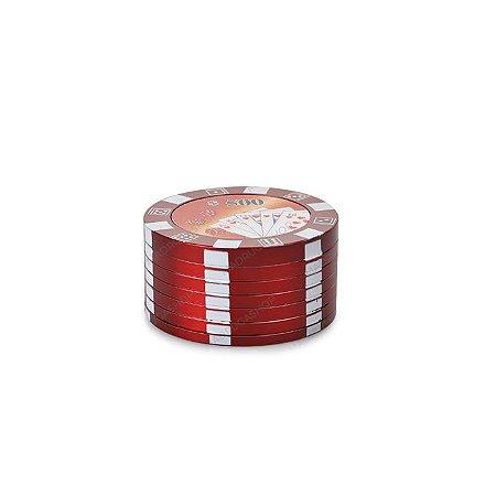 Dichavador de Metal Poker Chips - Vermelho