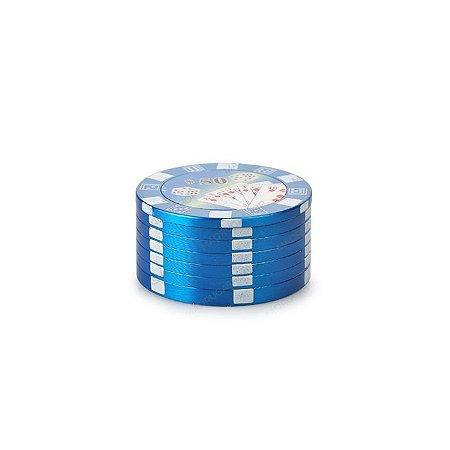 Dichavador de Metal Poker Chips - Azul