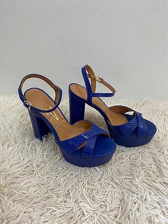 Sandália Vizzano Pelica Cobra Azul número 34