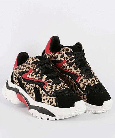 Tênis Feminino Chunky Sneaker Animal Print Zatz Z265016255