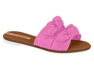Chinelo Rasteira Feminina Slide Laço Moleca Pink 5297424