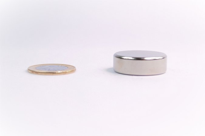 Ímã Neodímio N35 Pastilha 30x7 mm