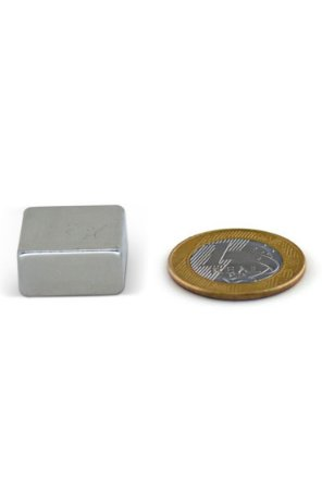 Ímã Neodímio N35 Bloco 20x20x10 mm