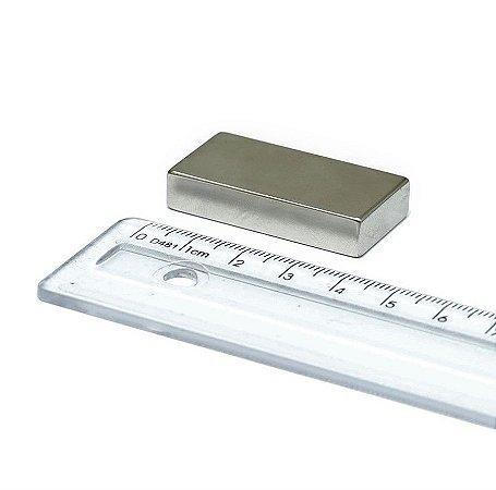 Imã Neodímio N35 Bloco 40x20x10 mm