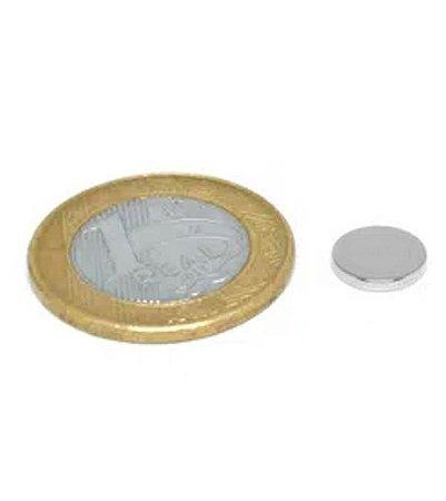 Ímã Neodímio N35 Pastilha 10x1,5 mm