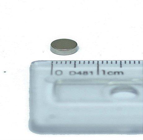 Ímã Neodímio N35 Pastilha 6x2 mm