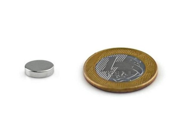 Ímã Neodímio N35 Pastilha 8x2 mm