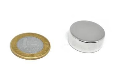 Ímã Neodímio N35 Pastilha 25x10 mm