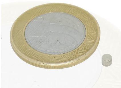 Ímã Neodímio N35 Pastilha 3x2 mm
