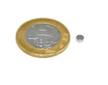 Ímã Neodímio N35 Pastilha 4x2 mm