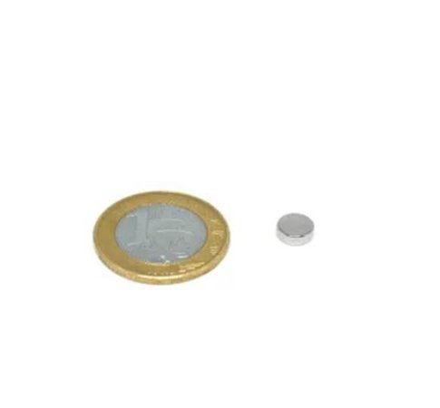 Ímã Neodímio N35 Pastilha 7,5x2,5 mm