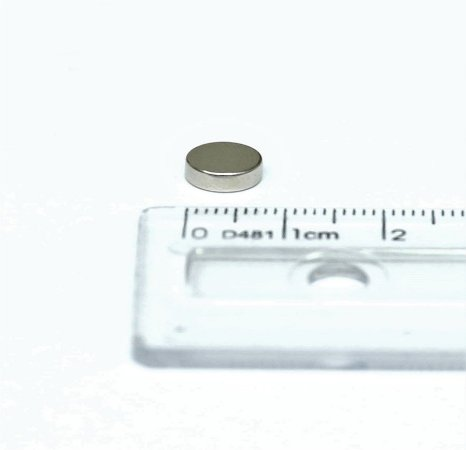 Ímã Neodímio N35 Pastilha 8x3 mm