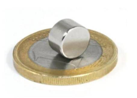 Ímã Neodímio N35 Pastilha 8x5 mm