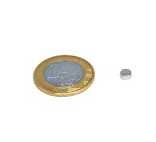 Ímã Neodímio N35 Pastilha 5x2,5 mm