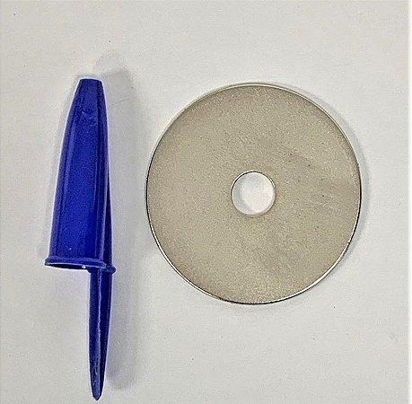 Ímã Neodímio N42 Anel 40x8x1,5 mm