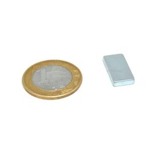 Ímã Neodímio N42 Bloco 20x10x3 mm