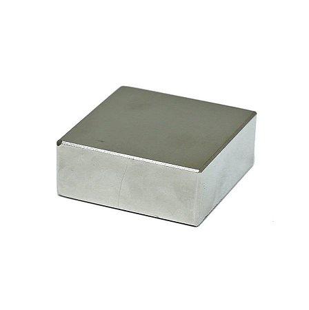 Ímã Neodímio Bloco 50,8x50,8x25,4 mm SUPER FORTE
