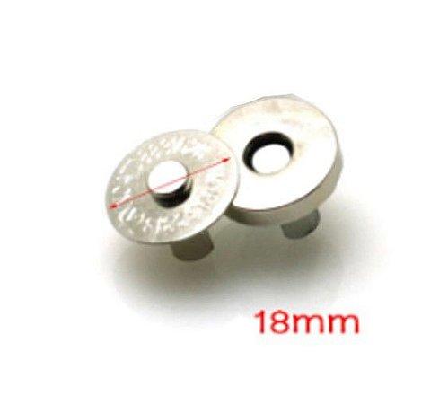 Fecho p/ Bolsas - Botão Magnético em Níquel 18mm