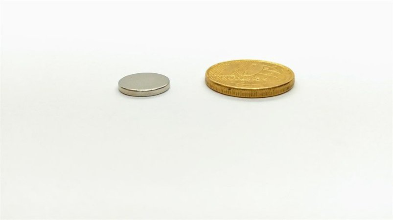 Ímã Neodímio N35 Pastilha 11,5x1,5 mm