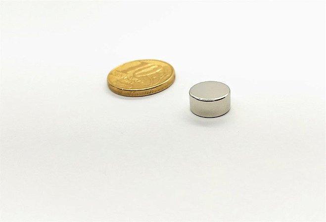 Ímã Neodímio N35 Pastilha 10x5 mm