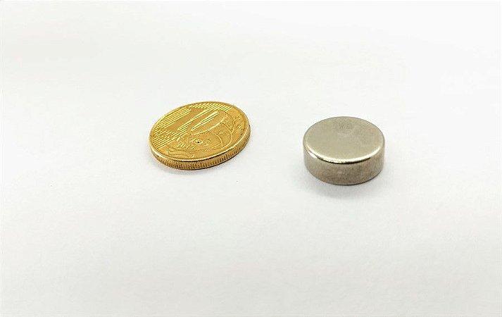 Ímã Neodímio N35 Pastilha 13x5 mm