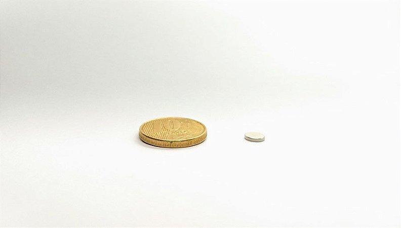 Ímã Neodímio N35 Pastilha 6x1 mm