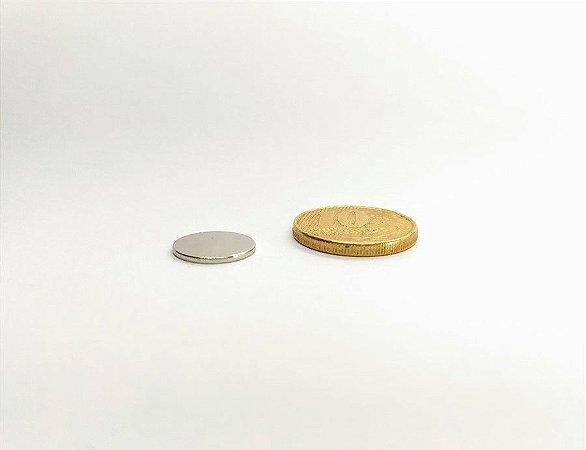 Ímã Neodímio N35 Pastilha 12x1 mm