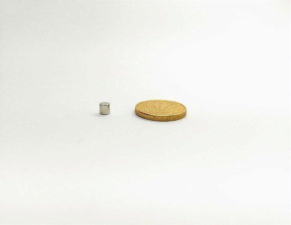 Ímã Neodímio N35 Pastilha 4x4 mm