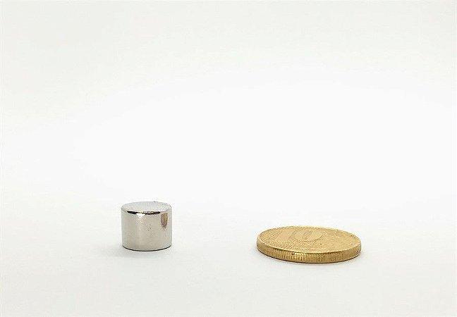 Ímã Neodímio N35 Cilindro 10x8 mm