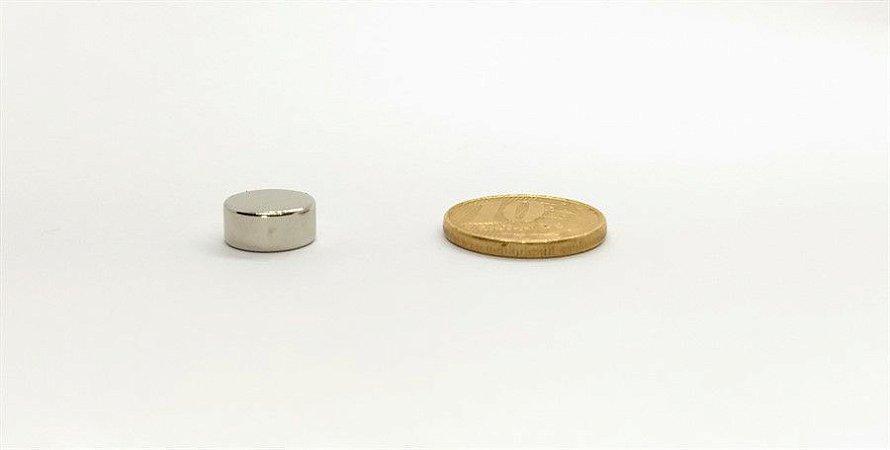 Ímã Neodímio N35 Pastilha 11x5 mm