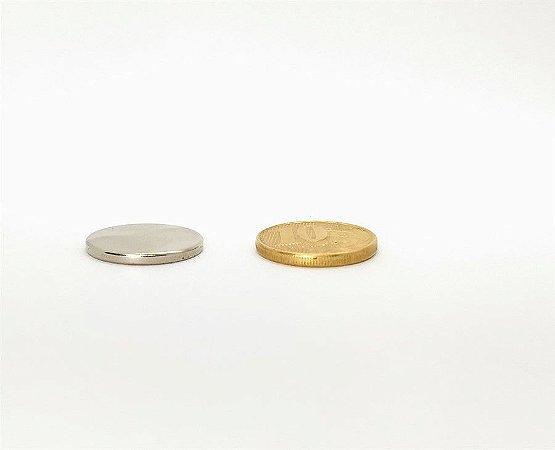 Ímã Neodímio N35 Pastilha 20x2 mm