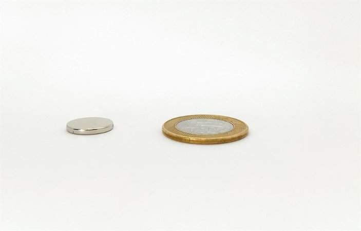Ímã Neodímio N35 Pastilha 15x2 mm