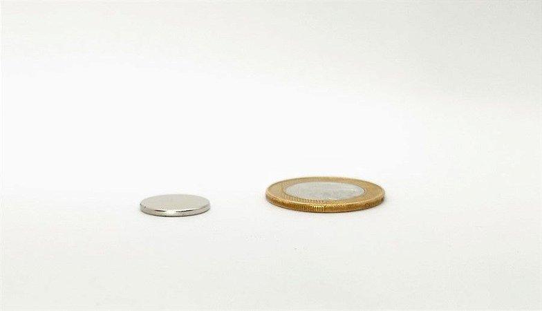 Ímã Neodímio N35 Pastilha 15x1,5 mm