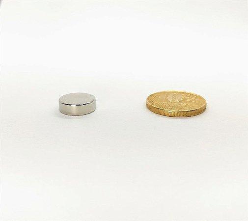 Ímã Neodímio N35 Pastilha 12x4 mm