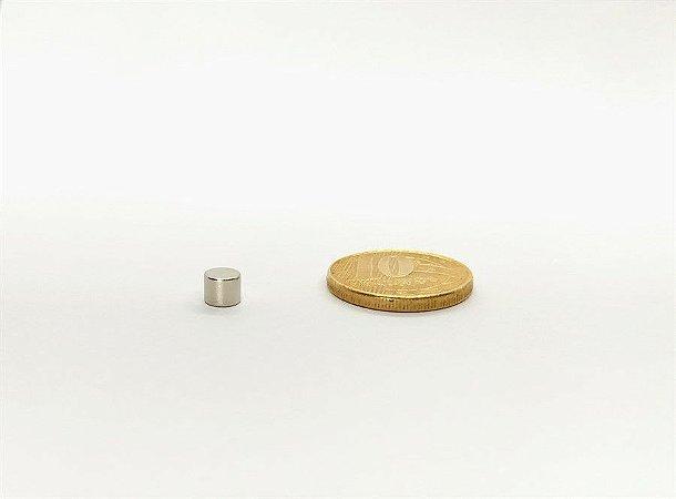 Ímã Neodímio N35 Pastilha 5mm x 4mm