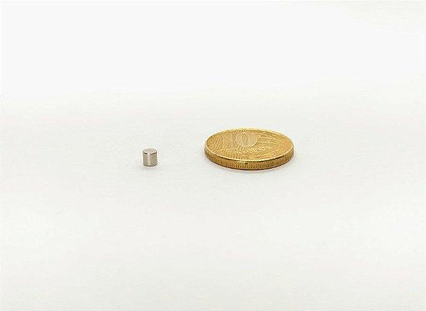 Ímã Neodímio N35 Pastilha 3x3 mm