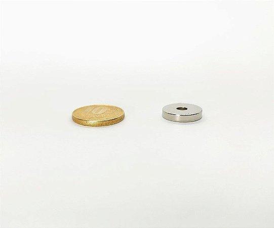 Ímã Neodímio N35 Anel 15x4x3 mm