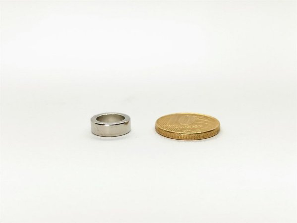 Ímã Neodímio N42 Anel 12x8,5x4 mm