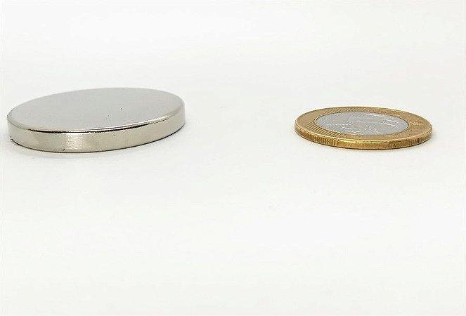 Ímã Neodímio N35 Pastilha 40x5 mm
