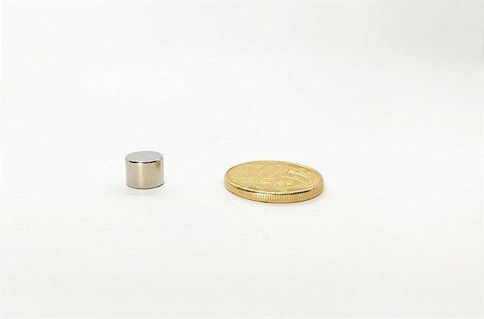 Ímã Neodímio N35 Pastilha 8x6 mm