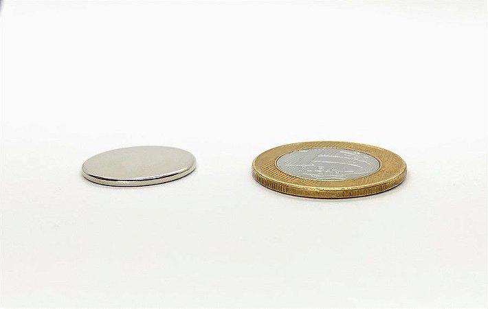 Ímã Neodímio N35 Pastilha 20x1,5 mm