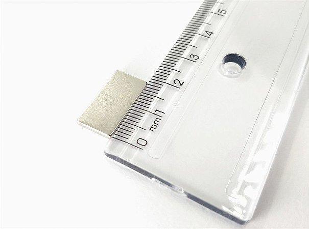 Ímã Neodímio N42 Bloco 19X10X2 mm