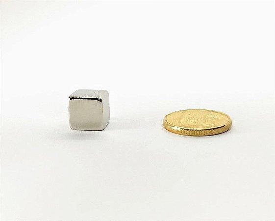 Ímã Neodímio N35 Bloco 10X10X10 mm