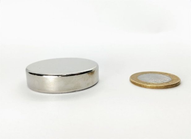 Ímã Neodímio N35 Pastilha 40x10 mm