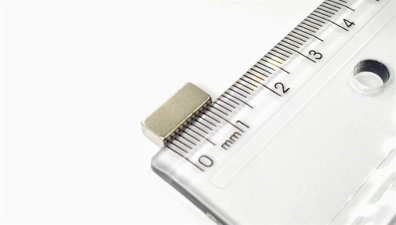 Ímã Neodímio N35 Bloco 12X5,75X3,75 mm