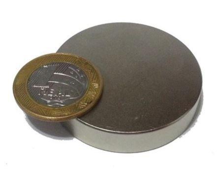 Ímã Neodímio N35 Pastilha 48x10 mm