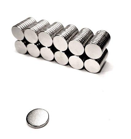 Ímã Neodímio N35 Pastilha 12,5x2 mm -  30 UNIDADES