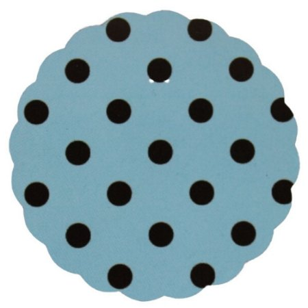 Fundo para doces Poá Azul e Marrom - Medidas Variadas - 100Un